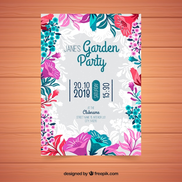 Spring garden party invitation vector free download spring garden party invitation free vector stopboris Image collections