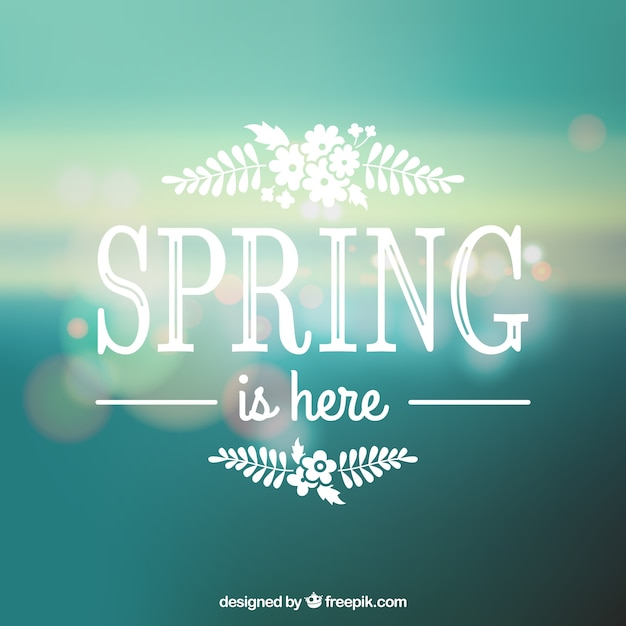 spring is here vector free download