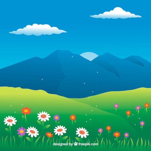 Spring landscape background