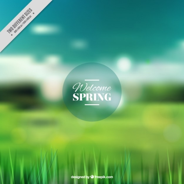 Spring landscape blurred background