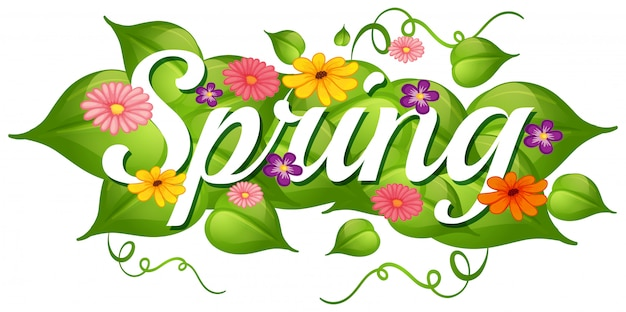 Spring nature flower background Free Vector