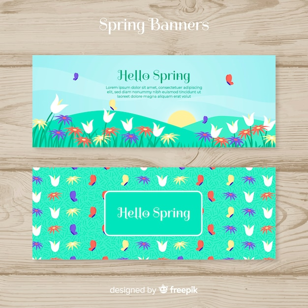 Spring Party Banner Template Vector Free Download