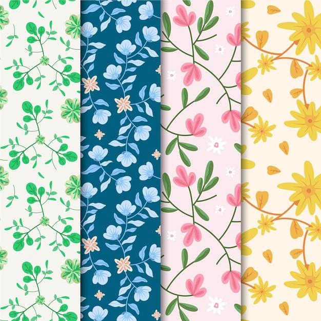 봄 패턴 컬렉션 무료 벡터