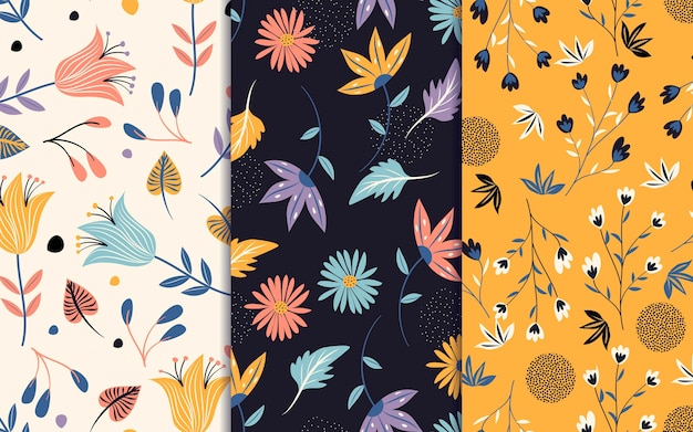 Spring pattern collection Free Vector
