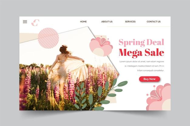 春セールコレクションのランディングページのコンセプト 無料ベクター