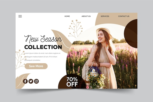 Spring sale new season collection concept Free Vector