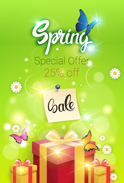 25017e761a3 Spring sale shopping special offer holiday banner Premium Vector