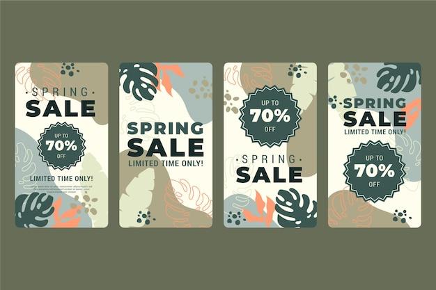 Modello di storie sui social media di vendita di primavera Vettore gratuito