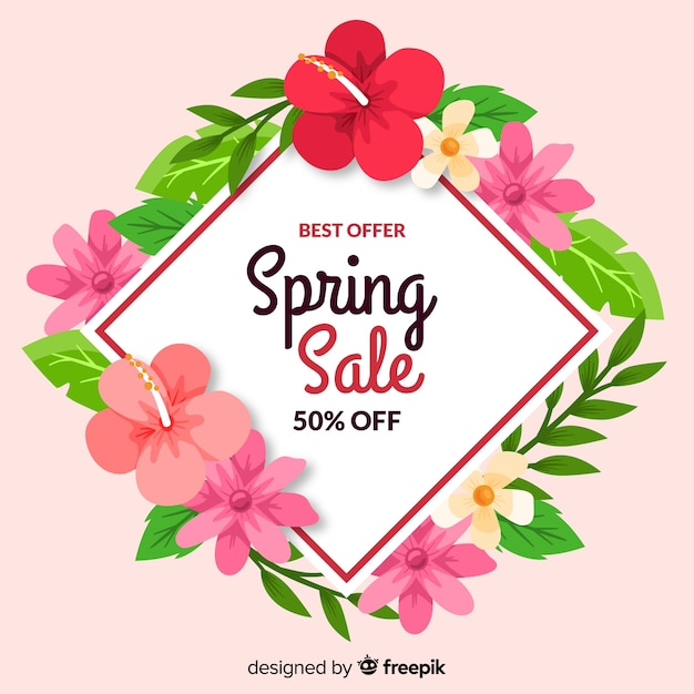 Spring sale Free Vector