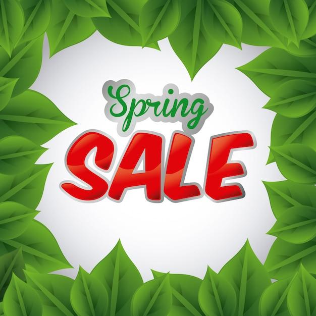 Spring sale Premium Vector