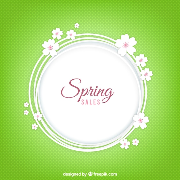 Spring sales background Free Vector