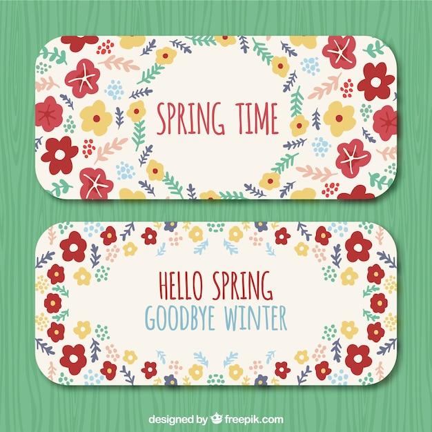 Spring season vintage banenrs