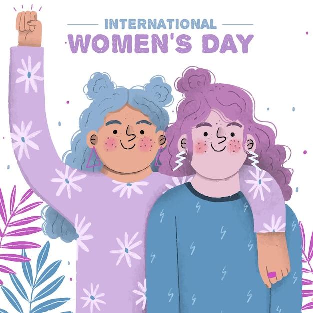 Spring season for women's day Free Vector