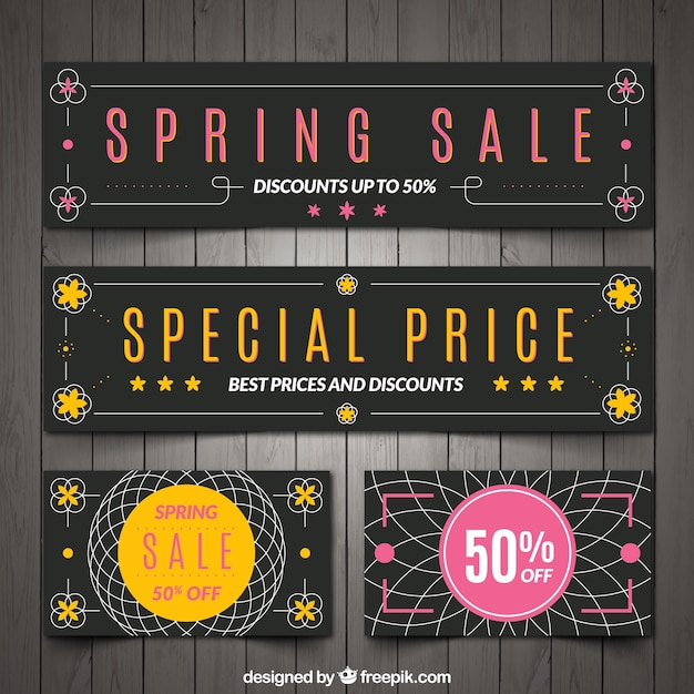 Spring specials banners