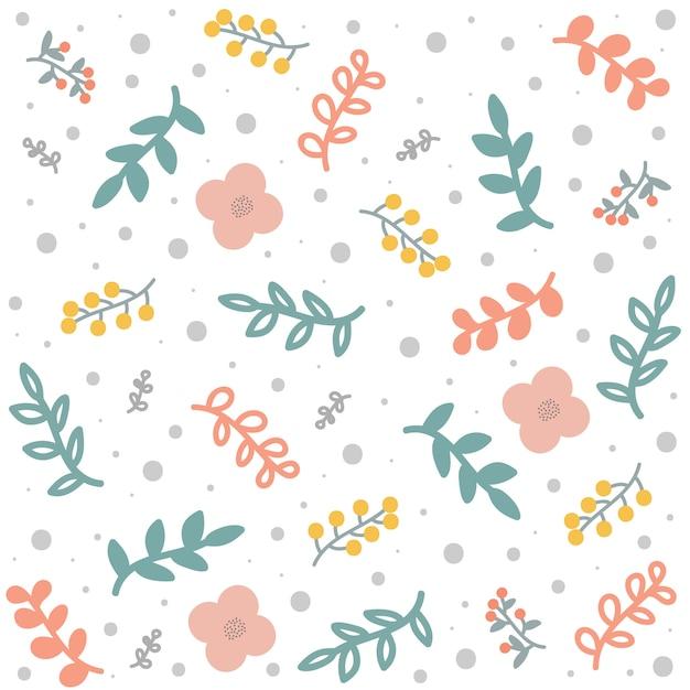 Spring or summer floral pattern or background Premium Vector