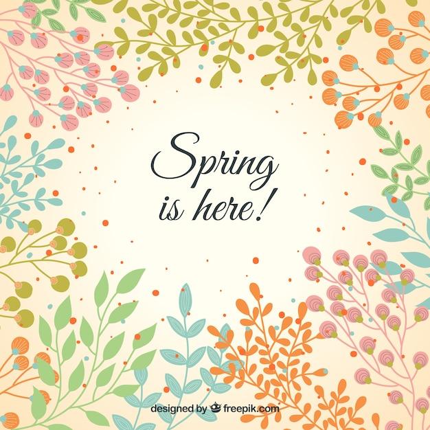 Spring vegetation background Free Vector