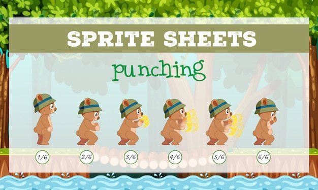 Sprite sheet punching template Free Vector