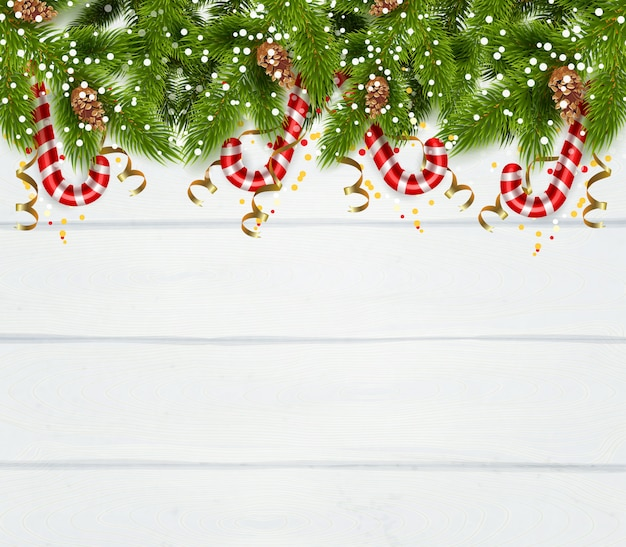 Spruce twigs background Free Vector