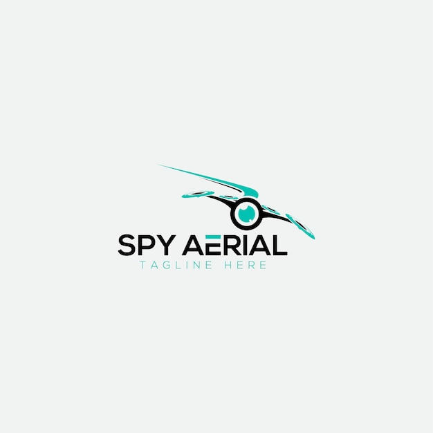 Логотип spy aerial Premium векторы