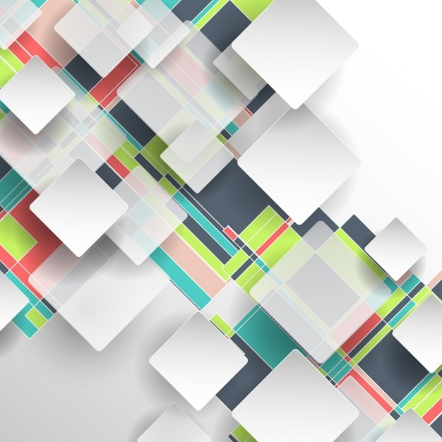 Square abstract background Free Vector