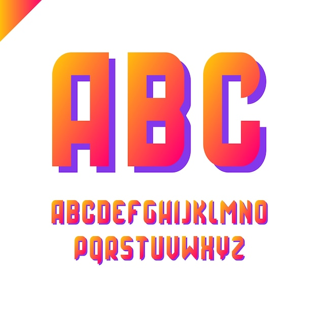 Square Alphabet Simple Sport Font And Letter Set Premium Vector