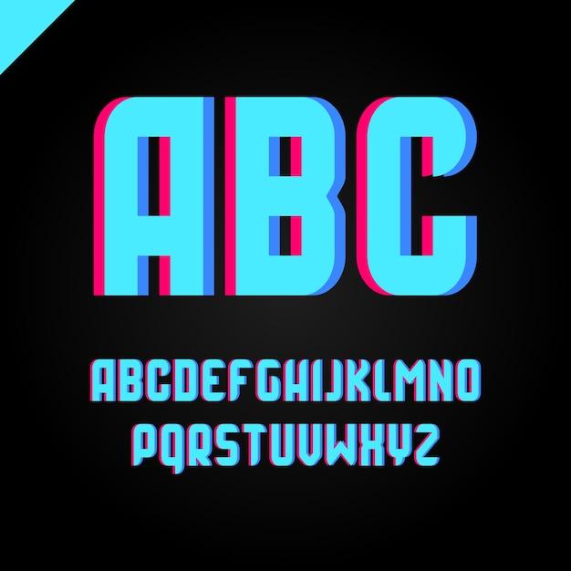 Square Alphabet Simple Sport Font And Letter Set Premium Vector