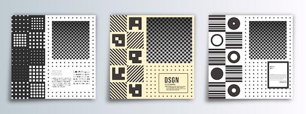 Square banner minimal design background Premium Vector