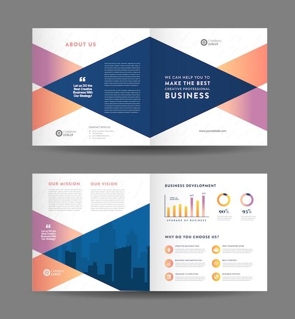 Брошюра дизайн квадратный бизнес | дизайн буклета | маркетинговый и финансовый документ Premium векторы