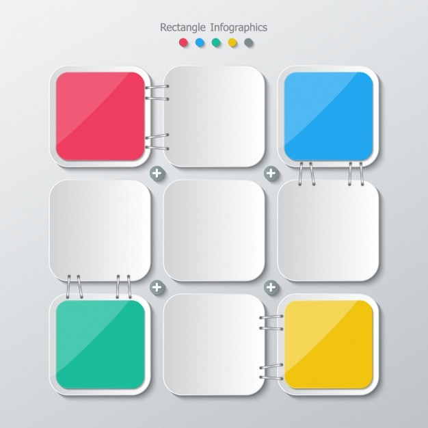 Square colors and gray Free Vector