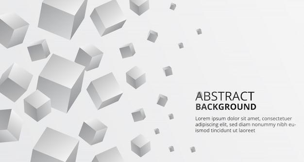 Square cube orange pattern box background for business Premium Vector