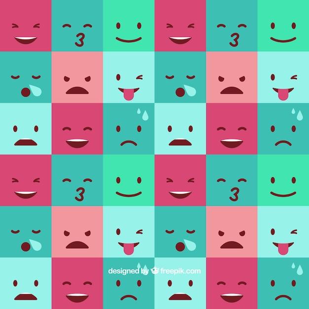 Square Emoticon Background Vector Free Download