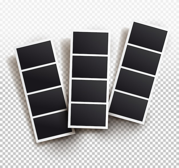 Square frame template with shadows, templates. Premium Vector