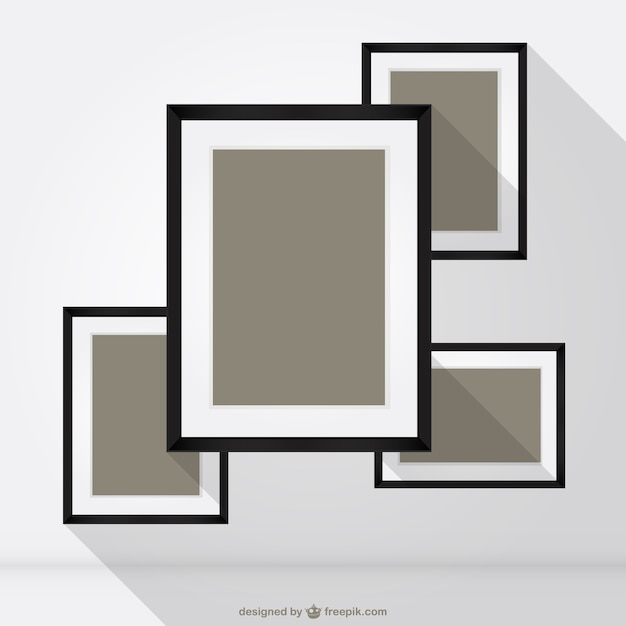 square frames vector free vector
