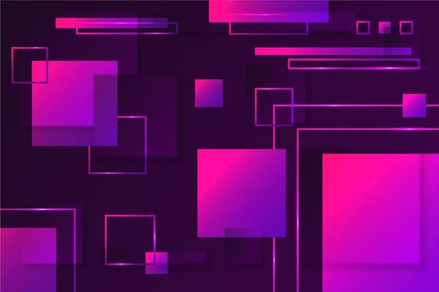 Forme geometriche quadrate su sfondo scuro Vettore gratuito
