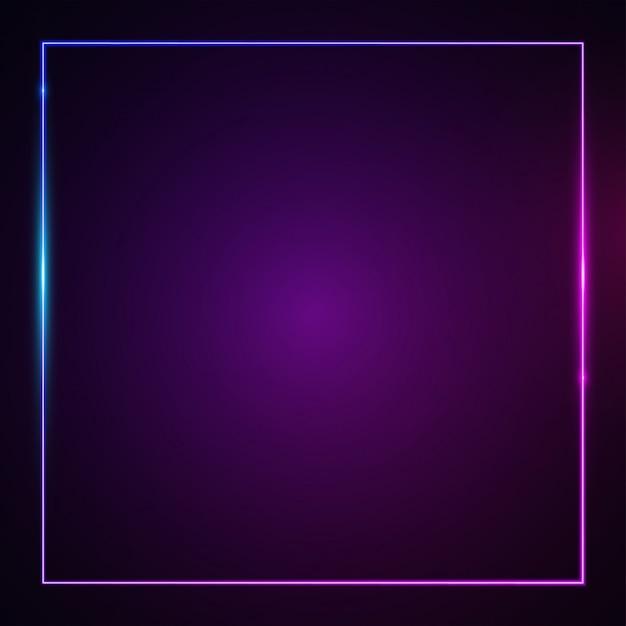 Square glowing light effect. Premium Vector
