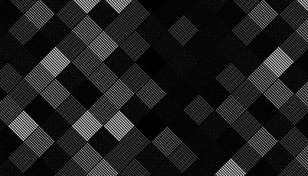正方形のハーフトーンパターン 無料ベクター