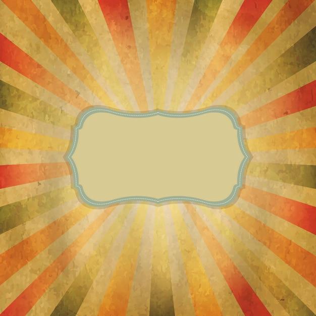 Солнечные лучи квадратной формы с речевым пузырем, Premium векторы