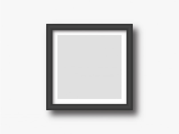 Square wall photo or painting frame mock up Premium Vector