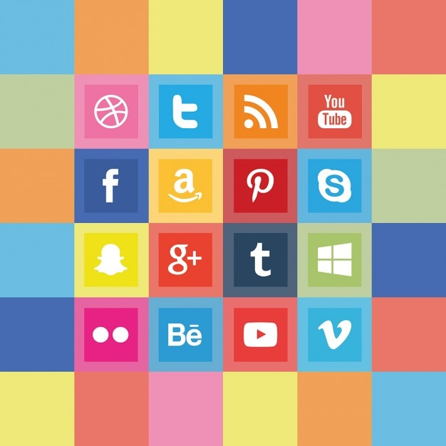 Squared social media icon pack Vector | Free Download