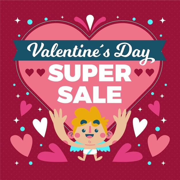 Banner di vendita quadrato di san valentino Vettore gratuito