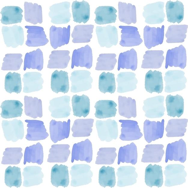 正方形の抽象的な水彩画のシームレスなパターン 無料ベクター