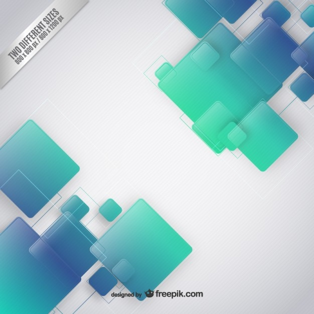 squares background in green and blue tones vector free download