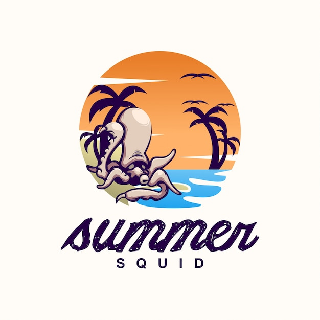 premium vector squid summer logo https www freepik com profile preagreement getstarted 5071457