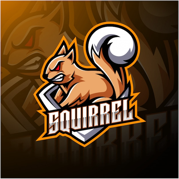 Squirrel esport mascot logo Premium Vector