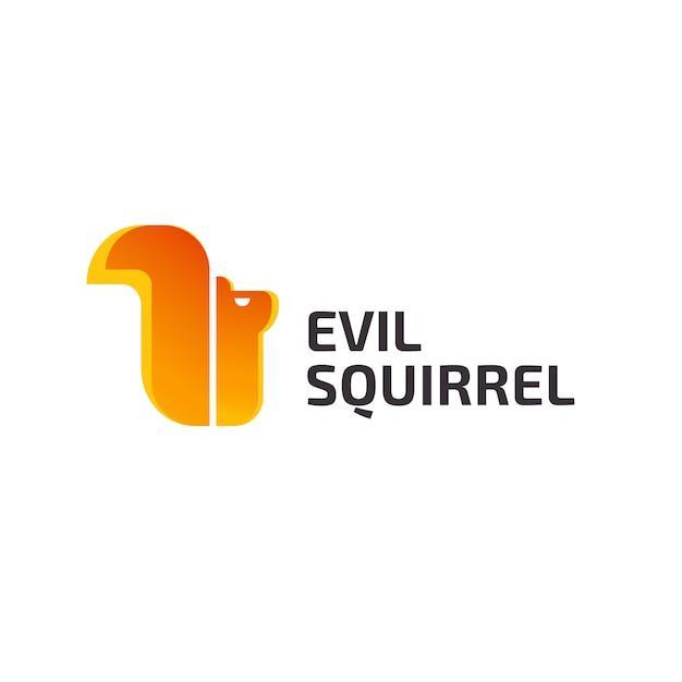 Squirrel logo design Premium Vector
