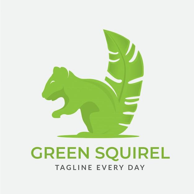 Squirrel logo Premium Vector