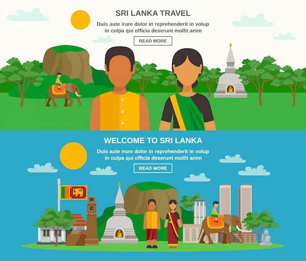 Sri lanka culture Free Vector