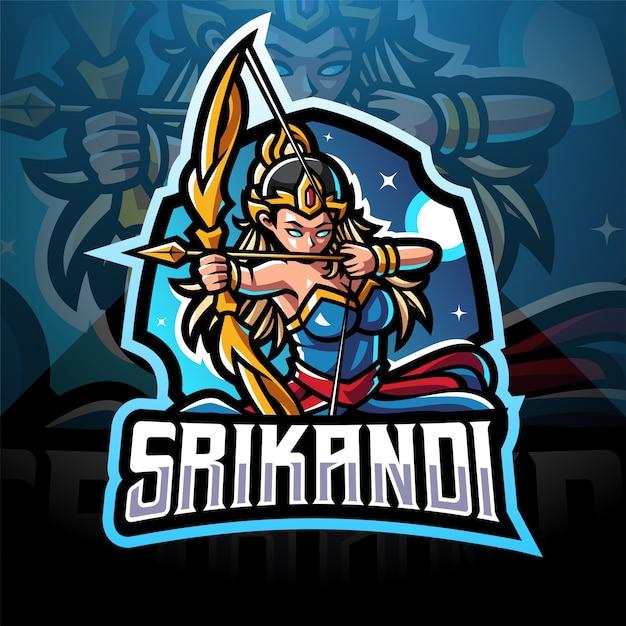 Srikandieスポーツマスコットロゴデザイン Premiumベクター