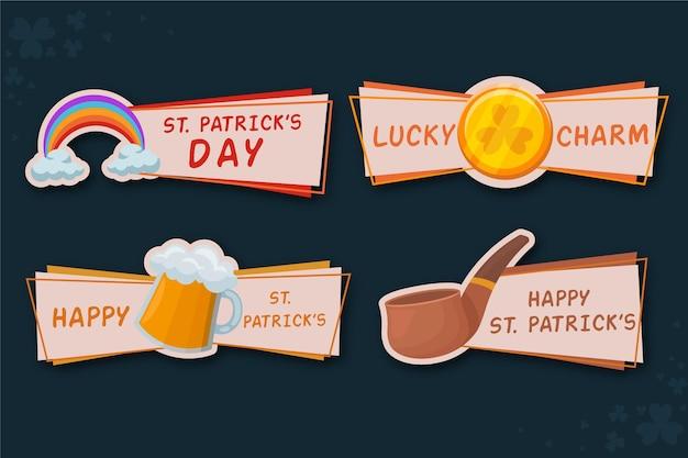 Коллекция значков дня святого патрика Бесплатные векторы