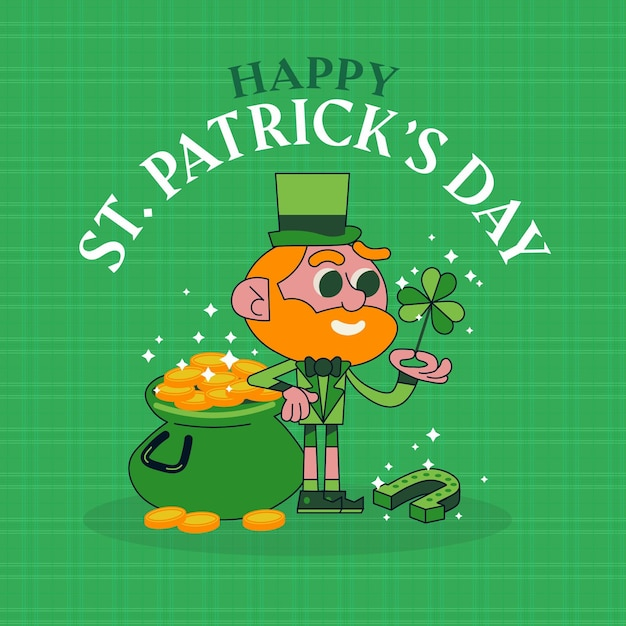 St patrick day illustration Free Vector